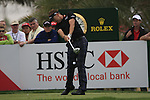 Ian Poulter tees off on the 9th tee during Day 2 Friday of the Abu Dhabi HSBC Golf Championship, 21st January 2011..(Picture Eoin Clarke/www.golffile.ie)