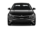 Car photography straight front view of a 2020 KIA Optima LX 4 Door Sedan Front View