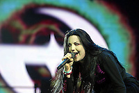 Amy Lee of Evanescence performs on stage at Rock in Rio Festival 31 May, 2004