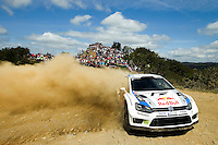 Jari-Matti Latvala and Mikka Anttila, Volkswagen Polo R WRC of VOLKSWAGEN MOTORSPORT during WRC Vodafone Rally de Portugal 2013, in Algarve, Portugal on April 12, 2013 (Photo Credits: Paulo Oliveira/DPI/NortePhoto)