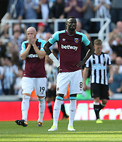 Decjection for West Ham and Cheikhou Kouyate<br /> <br /> Photographer Rob Newell/CameraSport<br /> <br /> The Premier League - Newcastle United v West Ham United - Saturday 26th August 2017 - St James' Park - Newcastle<br /> <br /> World Copyright &copy; 2017 CameraSport. All rights reserved. 43 Linden Ave. Countesthorpe. Leicester. England. LE8 5PG - Tel: +44 (0) 116 277 4147 - admin@camerasport.com - www.camerasport.com