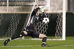 14 November 2008: Boston College's goalkeeper Chris Brown. The University of Maryland defeated Boston College 1-0 at WakeMed Stadium at WakeMed Soccer Park in Cary, NC in a men's ACC tournament semifinal game.