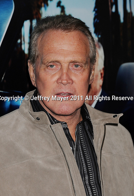 "HOLLYWOOD, CA - MARCH 22: Lee Majors attends HBO's ""His Way"" Los Angeles Premiere at Paramount Theater on the Paramount Studios lot on March 22, 2011 in Hollywood, California."