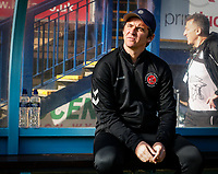 Fleetwood Town's manager Joey Barton pictured before the match<br /> <br /> Photographer Andrew Kearns/CameraSport<br /> <br /> The EFL Sky Bet League One - Wycombe Wanderers v Fleetwood Town - Saturday 4th May 2019 - Adams Park - Wycombe<br /> <br /> World Copyright © 2019 CameraSport. All rights reserved. 43 Linden Ave. Countesthorpe. Leicester. England. LE8 5PG - Tel: +44 (0) 116 277 4147 - admin@camerasport.com - www.camerasport.com