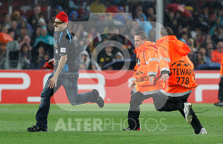 Jimy Jump in the curt  during UEFA Champions League match.May 3,2011.(ALTERPHOTOS/Acero)