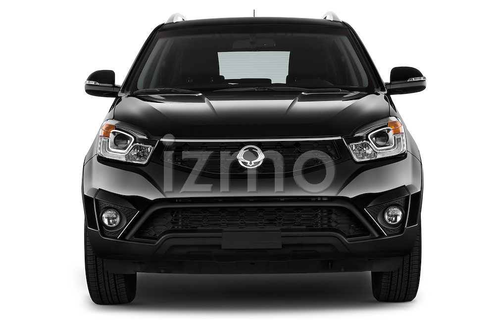 Car photography straight front view of a2014 Ssangyong Korando Sapphire 5 Door SUV Front View