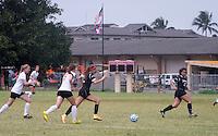 Occidental College women's soccer vs. BYU-Hawaii, Sept. 3, 2016 in Hawaii.<br /> <br /> (Photo courtesy Spencer Shamo, BYU-Hawaii Sports Information Director)