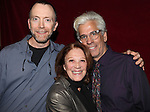 Actor Mike O'Neil, Linda Lavin and Director Steve Bakunas at The Red Barn Studio Theatre Off-Broadway production of 'Positions' at the Roy Arias Studio Theatre on October 10, 2012 in New York City.