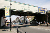 Green Lanes in Haringey, London, UK