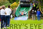 Front l-r Mary Lennihan,Castleisland, Cindy Reid Castleisland and Eilish Brosnan,Ballymac. at  the Hercoi Leán Island Warrior Challenge at An Riocht AC on Saturday