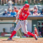 15 March 2016: Washington Nationals outfielder Matt den Dekker connects during a Spring Training pre-season game against the Houston Astros at Osceola County Stadium in Kissimmee, Florida. The Nationals defeated the Astros 6-4 in Grapefruit League play. Mandatory Credit: Ed Wolfstein Photo *** RAW (NEF) Image File Available ***