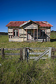 An old derelict house  on State Highway 10 at Kareponia, not far from Awanui.Far North.Northland, New Zealand.