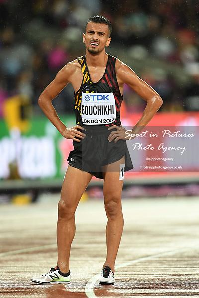 SoufianeBOUCHIKHI (BEL) in the mens 5000m heats. IAAF world athletics championships. London Olympic stadium. Queen Elizabeth Olympic park. Stratford. London. UK. 09/08/2017. ~ MANDATORY CREDIT Garry Bowden/SIPPA - NO UNAUTHORISED USE - +44 7837 394578