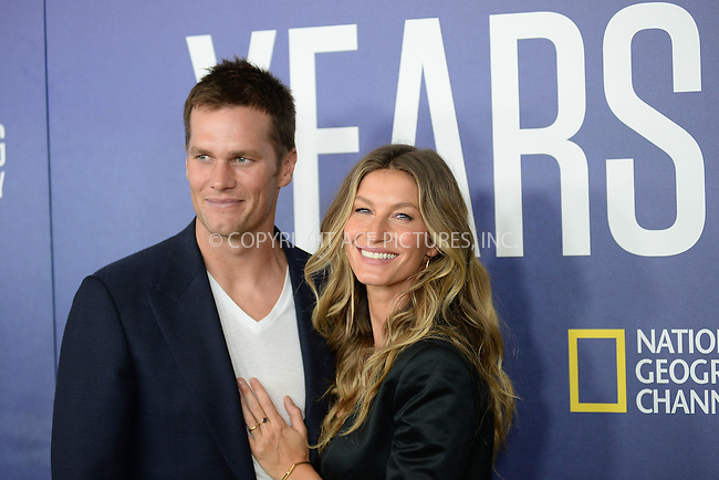 www.acepixs.com<br /> September 21, 2016  New York City<br /> <br /> Tom Brady and Gisele Bundchen attending National Geographic's 'Years Of Living Dangerously' new season world premiere at the American Museum of Natural History on September 21, 2016 in New York City. <br /> <br /> Credit: Kristin Callahan/ACE Pictures<br /> <br /> <br /> Tel: 646 769 0430<br /> Email: info@acepixs.com