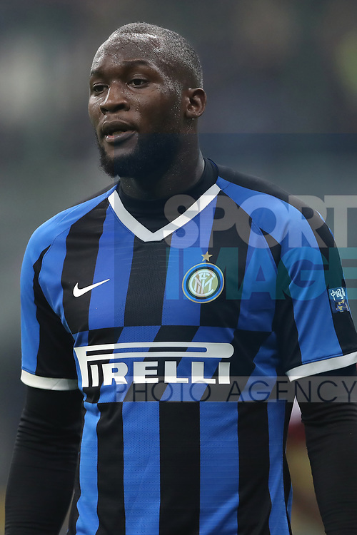 Romelu Lukaku of Inter during the Serie A match at Giuseppe Meazza, Milan. Picture date: 9th February 2020. Picture credit should read: Jonathan Moscrop/Sportimage
