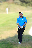 Damien McGrane (IRL) on the 9th during Round 2 of the KLM Open at Kennemer Golf &amp; Country Club on Friday 12th September 2014.<br /> Picture:  Thos Caffrey / www.golffile