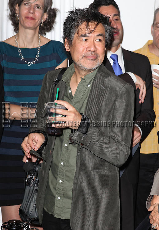 David Henry Hwang attending the Unveiling of the Revitalized Public Theater at Astor Place in New York City on 10/4/2012.