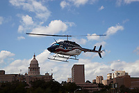 Helicopter leaving the Texas State Capitol