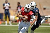 SAN ANTONIO, TX - APRIL 14, 2018: The University of Texas at San Antonio Roadrunners Football Fiesta Spring Game at Dub Farris Stadium. (Photo by Jeff Huehn)
