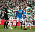 29.04.18 Celtic v Rangers: Kristoffer Ajer and Alfredo Morelos