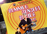 """New York, NY - Taylor Hicks performs on """"Good Morning America"""" Summer Concert Series in Bryant Park, New York City, New York on Friday, July 21, 2006."""