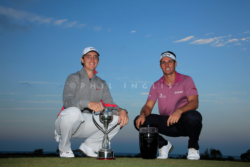Tommy Fleetwood (ENG) and Andrea Pavan (ITA)  after the final round of the Apulia San Domenico Grand Final played at San Domenico Golf on November 5, 2011 in Savelletri di Fasano, Puglia, Italy. (Picture Credit / Phil Inglis)