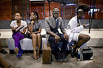 JOHANNESBURG, SOUTH AFRICA - APRIL 4:  Young designers wait outside a fashion show at the annual Sanlam fashion week on April 4, 2009, Turbine Hall in central Johannesburg, South Africa. The countries top designers showed their new clothes. (Photo by: Per-Anders Pettersson)