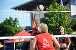 OFFENBACH, GERMANY - AUGUST 18: Day 1 at the Hessenfinale Beachvolleyball 2012 at Ring Center on August 18, 2012 in Offenbach, Germany. (Photo by Dirk Markgraf)