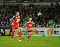 14th December 2013; Lionel Beauxis, Toulouse, kicks a penalty. Heineken Cup Pool 3, round 4, Connacht v Toulouse, The Sportsground, Galway. Picture credit: Tommy Grealy/actionshots.ie.