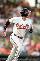 Baltimore Orioles infielder Ryan Flaherty (3) during a Spring Training game against the Atlanta Braves on April 3, 2015 at Ed Smith Stadium in Sarasota, Florida.  Baltimore defeated Atlanta 3-2.  (Mike Janes/Four Seam Images)