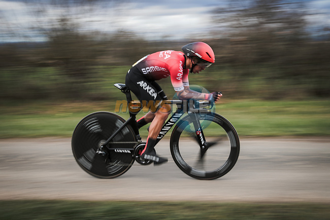 Dayer Quintana (COL) Team Arkea-Samsic in action during Stage 4 of the 78th edition of Paris-Nice 2020, and individual time trial running 15.1km around Saint-Amand-Montrond, France. 11th March 2020.<br /> Picture: ASO/Fabien Boukla   Cyclefile<br /> All photos usage must carry mandatory copyright credit (© Cyclefile   ASO/Fabien Boukla)