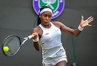 London, England, 1  st July, 2019, Tennis,  Wimbledon,  Cory Gauff (USA)<br /> Photo: Henk Koster/tennisimages.com
