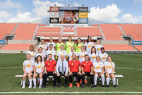 Houston, TX - Thursday Oct. 06, 2016: Western New York Flash team photo during media day prior to the National Women's Soccer League (NWSL) Championship match between the Washington Spirit and the Western New York Flash at BBVA Compass Stadium.