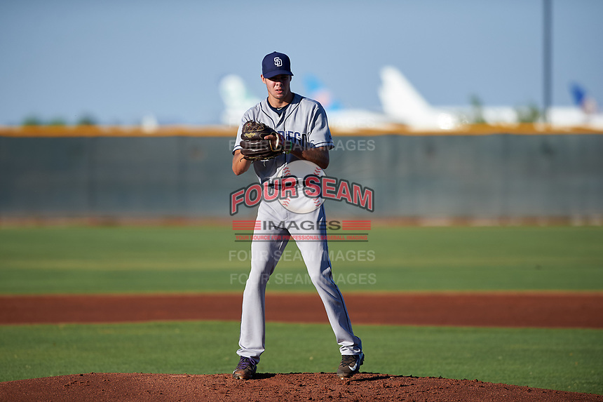 AZL Padres 1 starting pitcher Matt Brash (15) during an Arizona League game against the AZL Indians Red on June 23, 2019 at the Cleveland Indians Training Complex in Goodyear, Arizona. AZL Indians Red defeated the AZL Padres 1 3-2. (Zachary Lucy/Four Seam Images)