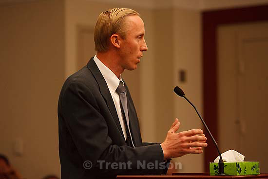 Salt Lake City -  hearing held in the Matheson Courthouse Wednesday, July 29, 2009 to decide on the sale of the Berry Knoll property in the United Effort Plan (UEP) land trust..joseph allred