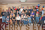 30TH BIRTHDAY: David Hughes, Spa Road, Tralee (seated 5th left) enjoying a great time celebrating his 30th birthday with a large group of family and friends at Strand Road clubhouse on Saturday.