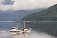 Commercial trolling vessel Lindy near Sitka, Alaska