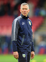 Burnley's Head of Sports Science Mark Howard during the pre-match warm-up <br /> <br /> Photographer Ashley Crowden/CameraSport<br /> <br /> The Premier League - Crystal Palace v Burnley - Saturday 13th January 2018 - Selhurst Park - London<br /> <br /> World Copyright &copy; 2018 CameraSport. All rights reserved. 43 Linden Ave. Countesthorpe. Leicester. England. LE8 5PG - Tel: +44 (0) 116 277 4147 - admin@camerasport.com - www.camerasport.com