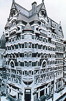 Frank Furness: 401-409 Chestnut. Provident Building, 1879. Demolished 1959. Bavarian style. Philadelphia. Ref. only.