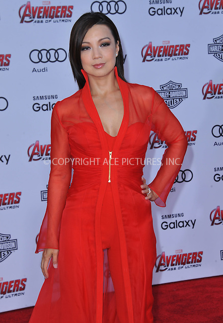 WWW.ACEPIXS.COM<br /> <br /> April 13 2015, LA<br /> <br /> Ming-Na Wen arriving at the Premiere Of Marvel's 'Avengers: Age Of Ultron' at the Dolby Theatre on April 13, 2015 in Hollywood, California.<br /> <br /> <br /> By Line: Peter West/ACE Pictures<br /> <br /> <br /> ACE Pictures, Inc.<br /> tel: 646 769 0430<br /> Email: info@acepixs.com<br /> www.acepixs.com