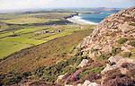 Whitesands Bay and Ramsey Island from Carn Llidi, St David's Head, Pembrokeshire, Wales