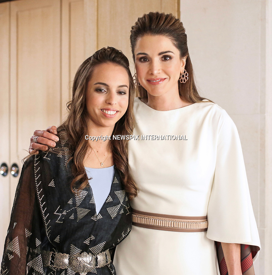 25.05.2017; Amman, Jordan: QUEEN RANIA AND PRINCESS SALMA<br /> attend the national celebrations on the occasion of the 71st anniversary of Jordan's Independence Day at Raghadan Palace, Amman<br /> Mandatory Photo Credit: &copy;Royal Hashemite Court/NEWSPIX INTERNATIONAL<br /> <br /> IMMEDIATE CONFIRMATION OF USAGE REQUIRED:<br /> Newspix International, 31 Chinnery Hill, Bishop's Stortford, ENGLAND CM23 3PS<br /> Tel:+441279 324672  ; Fax: +441279656877<br /> Mobile:  0777568 1153<br /> e-mail: info@newspixinternational.co.uk<br /> &ldquo;All Fees Payable To Newspix International&rdquo;