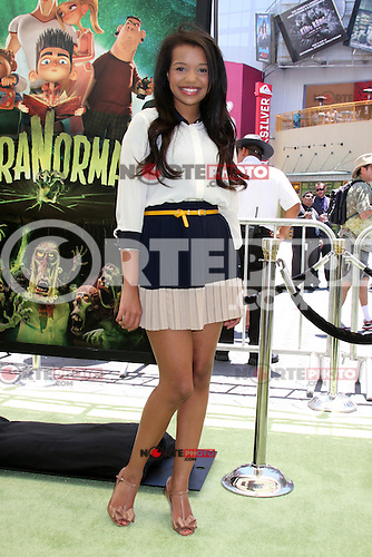 """LOS ANGELES - AUG 5:  Daphne Blunt arrives at the """"ParaNorman"""" Premiere at Universal CityWalk on August 5, 2012 in Universal City, CA ©mpi27/MediaPunch Inc"""