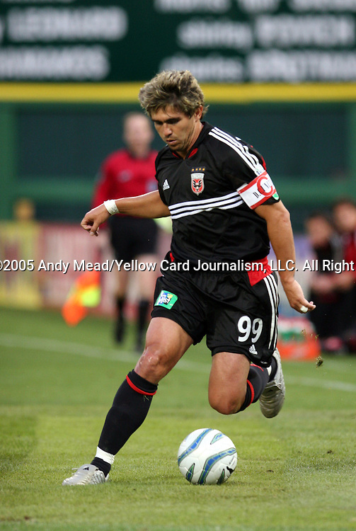 21 May 2005: Jaime Moreno. DC United defeated the Kansas City Wizards 3-2 at RFK Stadium in Washington, DC in a regular season Major League Soccer game. . .