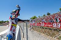 Alex Marquez of Spain and EG 00 Marc VDS during the race of  Moto2 of Catalunya at Circuit de Catalunya on June 11, 2017 in Montmelo, Spain.(ALTERPHOTOS/Rodrigo Jimenez) (NortePhoto.com) (NortePhoto.com)