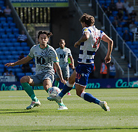 Reading's John Swift (right) under pressure from Blackburn Rovers' Lewis Travis (left) <br /> <br /> Photographer David Horton/CameraSport<br /> <br /> The EFL Sky Bet Championship - Reading v Blackburn Rovers - Saturday 21st September 2019 - Madejski Stadium - Reading<br /> <br /> World Copyright © 2019 CameraSport. All rights reserved. 43 Linden Ave. Countesthorpe. Leicester. England. LE8 5PG - Tel: +44 (0) 116 277 4147 - admin@camerasport.com - www.camerasport.com