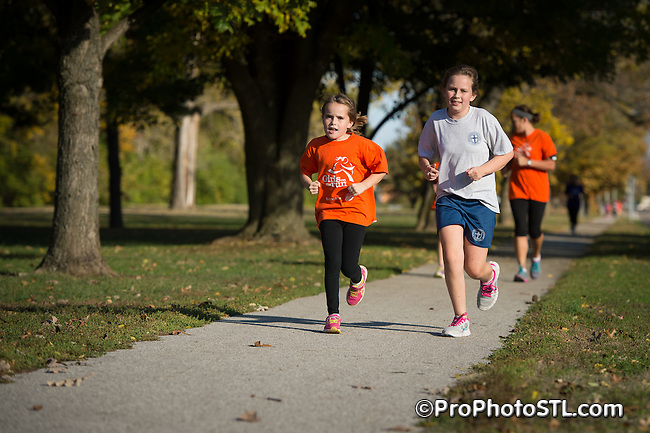 Girls on The Run test run in Heman Park in University City, MO on Nov 1, 2013.