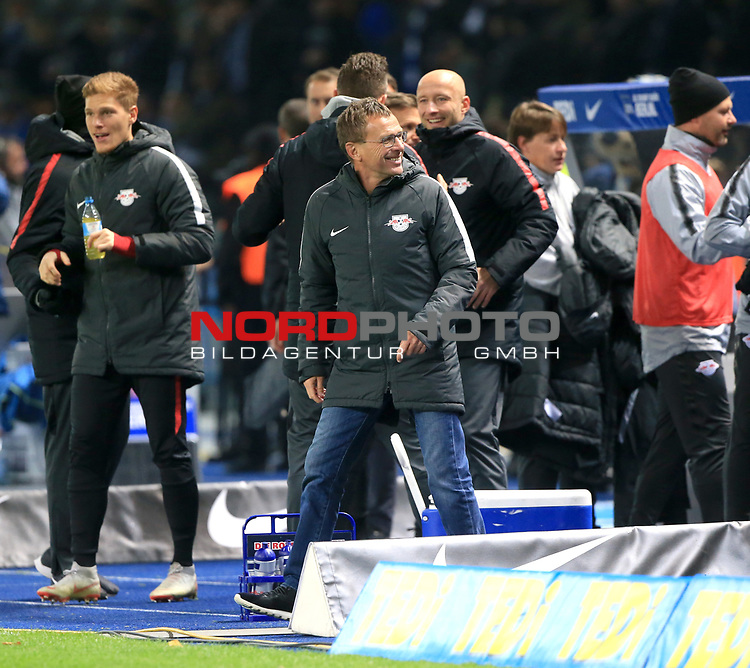 03.11.2018, OLympiastadion, Berlin, GER, DFL, 1.FBL, Hertha BSC VS. RB Leipzig, <br /> DFL  regulations prohibit any use of photographs as image sequences and/or quasi-video<br /> <br /> im Bild Trainer, Ralf Rangnick (RB Leipzig)<br /> <br />       <br /> Foto © nordphoto / Engler