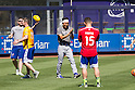 Munenori Kawasaki (Blue Jays),<br /> AUGUST 7, 2015 - MLB :<br /> Munenori Kawasaki of the Toronto Blue Jays plays soccer with his teammates before the Major League Baseball game against the New York Yankees at Yankee Stadium in the Bronx, New York, United States. (Photo by Thomas Anderson/AFLO) (JAPANESE NEWSPAPER OUT)