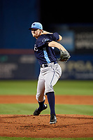 Charlotte Stone Crabs starting pitcher J.D. Busfield (35) delivers a pitch during the second game of a doubleheader against the St. Lucie Mets on April 24, 2018 at First Data Field in Port St. Lucie, Florida.  St. Lucie defeated Charlotte 5-3.  (Mike Janes/Four Seam Images)